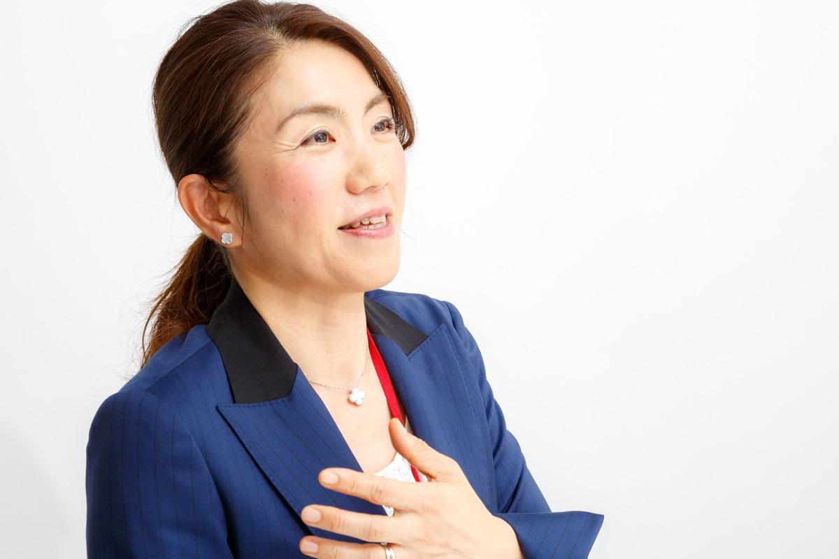 さかいりはグループ代表取締役・阪井春枝さんの写真