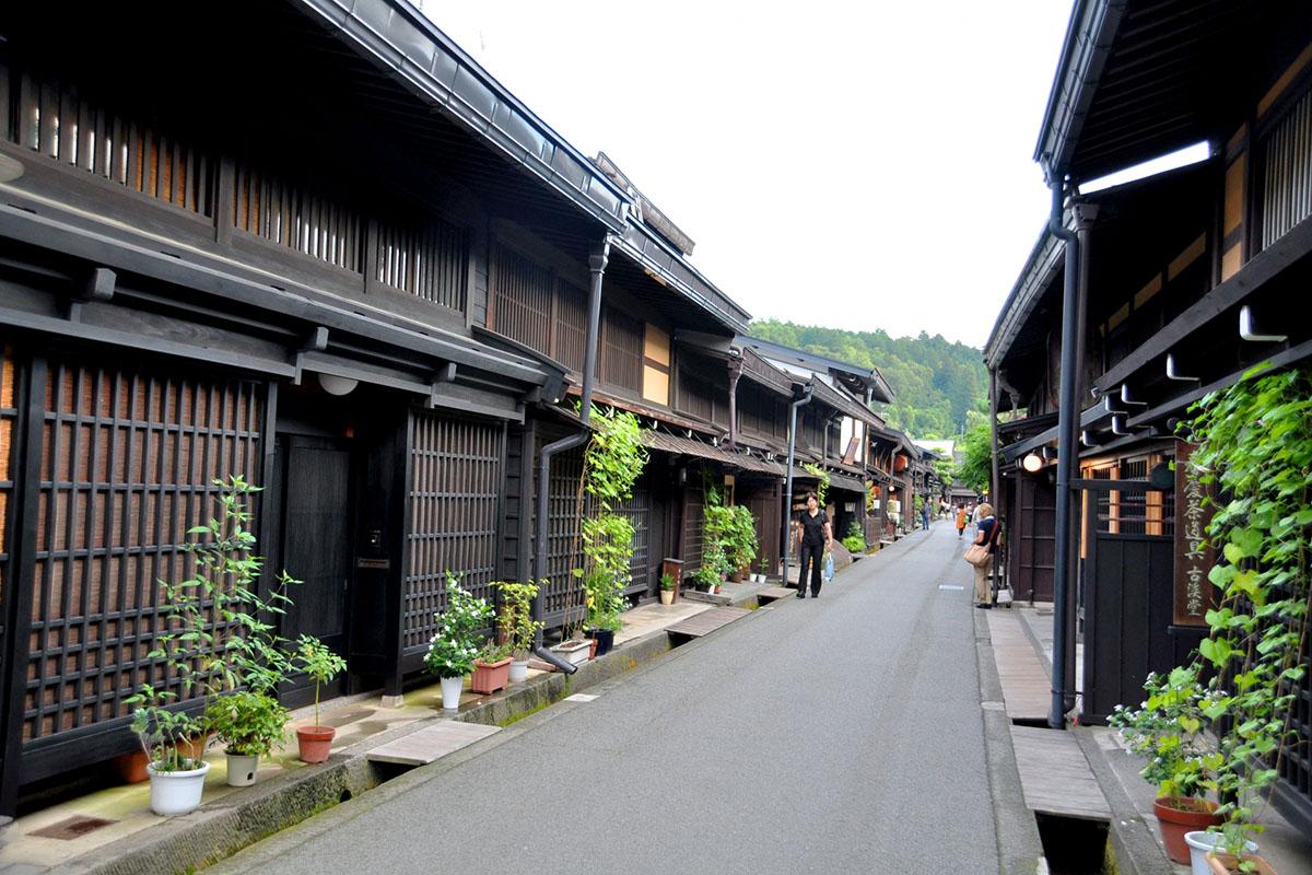 飛騨高山の街並みの写真