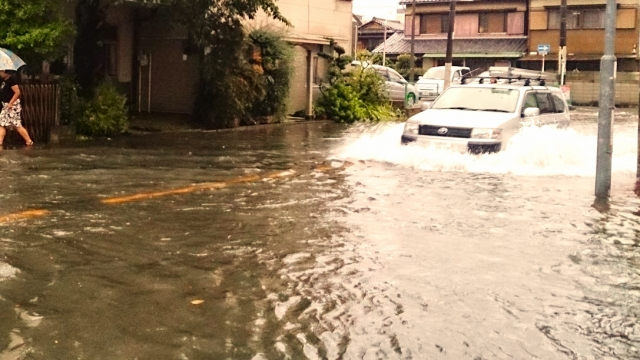 2017年は各地で甚大な水害に見舞われた写真